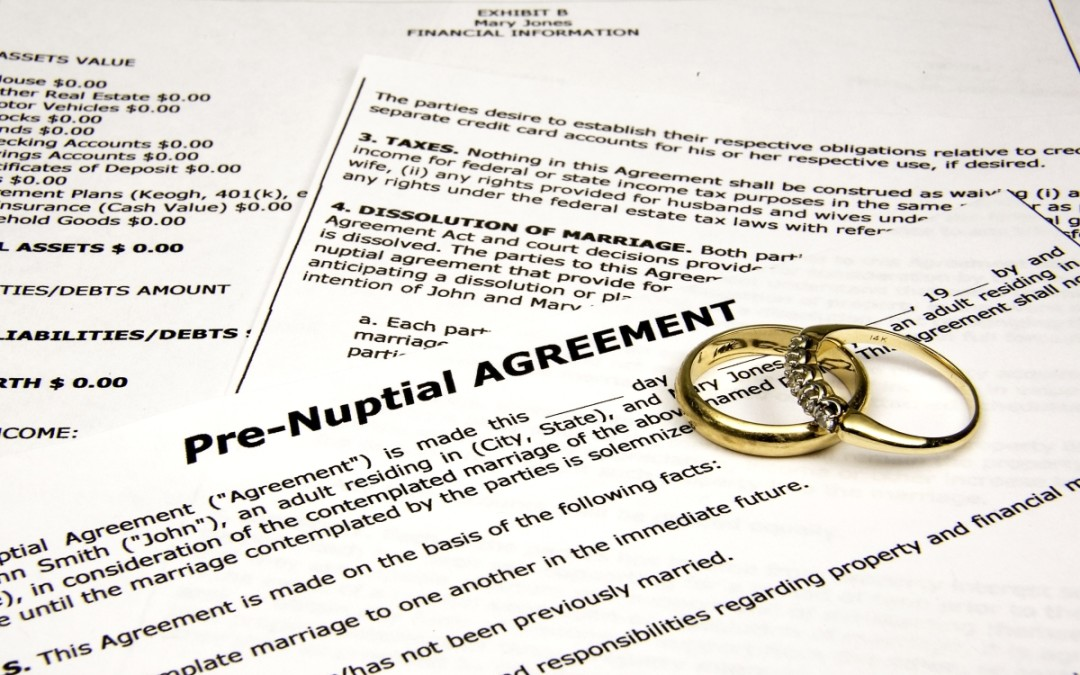 Overview and reasons for a prenuptial agreement or antenuptial assention in birmingham